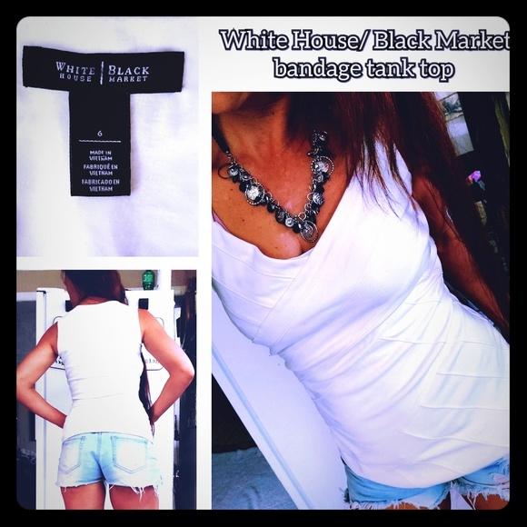 White House Black Market Tops - EUC, White House/ Black market bandage tank